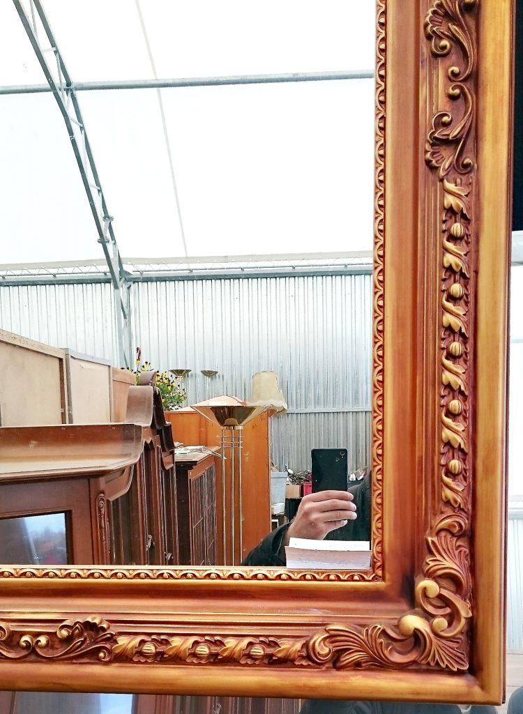 medinis veidrodžio rėmas